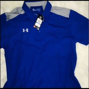 Under Armour Royal/Gray Men's Collared Polo sz XL